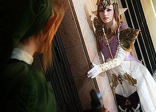 Photo of Cosplay   Link encontra Zelda