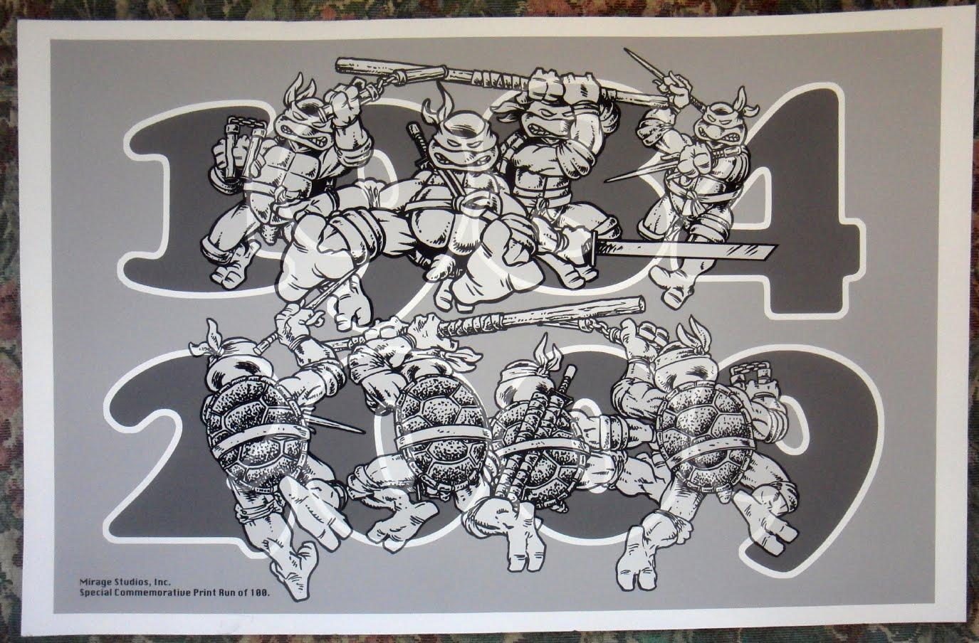 1984-2009 TMNT commemorative print sm