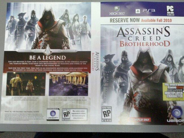 Photo of História e assassinatos de Ezio continuam este ano em Assassin's Creed: BrotherhooD! [PS3/X360/PC]