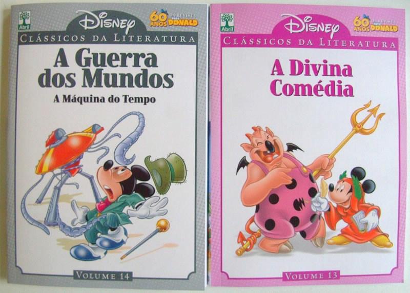 Photo of Clássicos da Literatura Disney Vol. 13/14 nas bancas! [A Divina Comédia] [A Guerra dos Mundos]