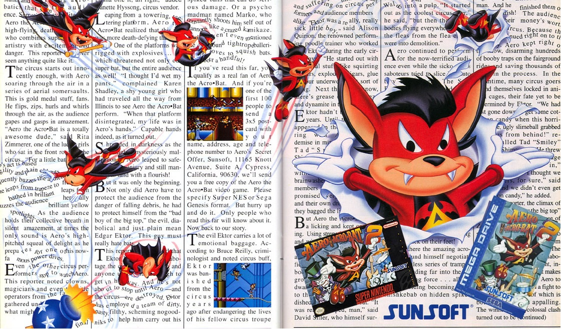 Photo of Nintendo on-line: Aero the Acrobat volta mais uma vez ao Virtual Console! [Wii]