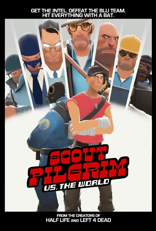 Photo of Scott Pilgrim você conhece, mas e o Scout Pilgrim? Conheça a nova faceta do integrante de TF2! [PicArt]