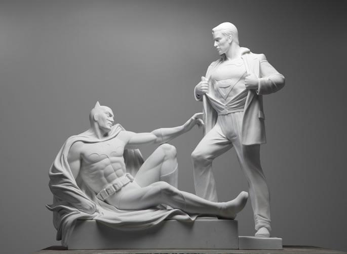 Photo of A Criação de Mauro Perucchetti: Modern Heroes ao estilo de Michelangelo! [Arte]