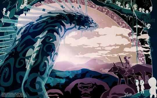 Photo of Wallpaper do dia: Mononoke Hime!