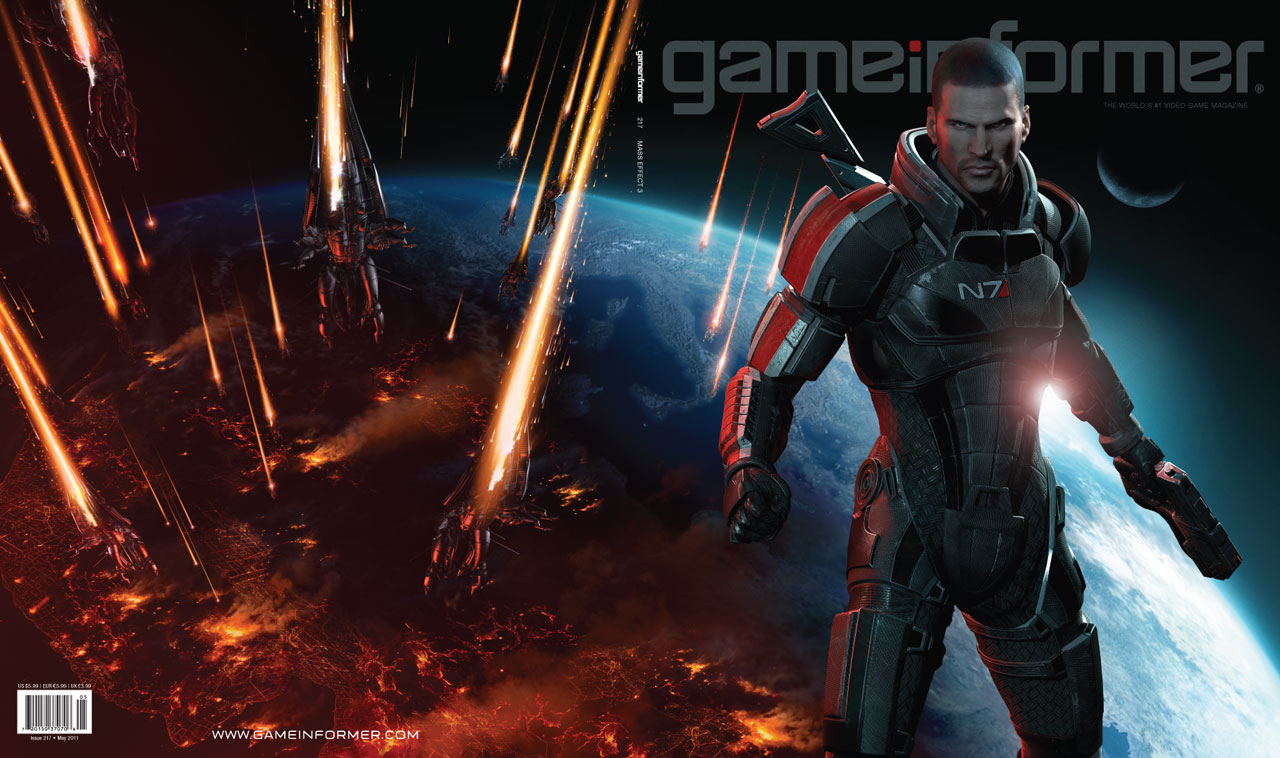 Photo of Mass Effect 3 na capa da Game Informer! (+ Filme animado de Mass Effect)