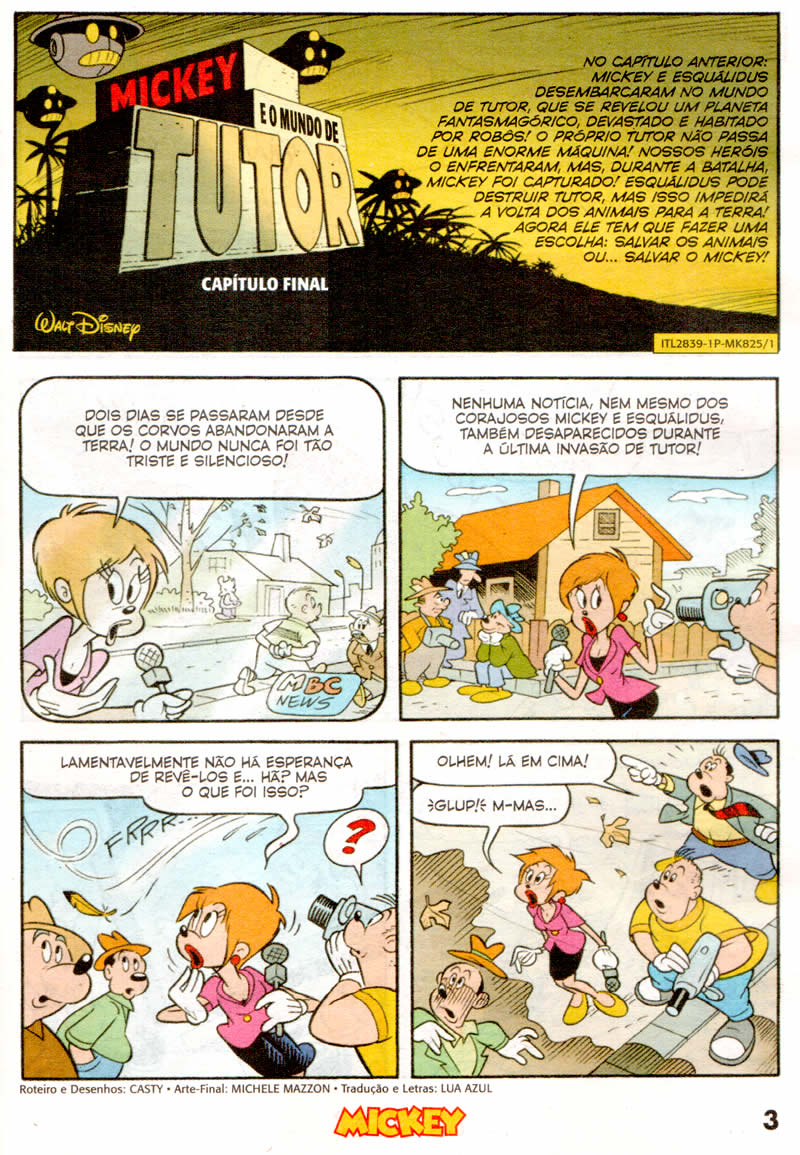 Mickey n°825 [Junho/2011] - Prévia em scans na pág. 01! Mk82501
