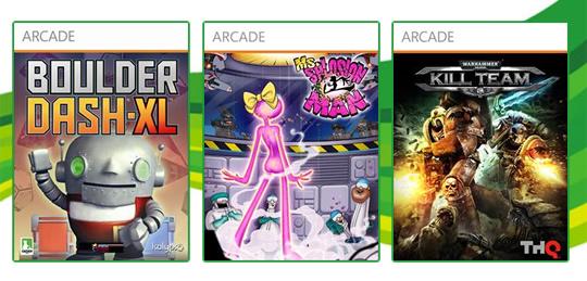 Live Arcade: Ms. Splosion Man, Boulder Dash XL e Warhammer: 40,000 Kill Team! 3x 800 MSP! [X360]