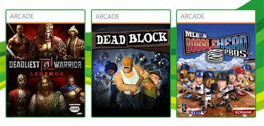 Live Arcade: Dead Block, Deadliest Warrior Legends e MLB Bobblehead Pros! [Lançamentos] [X360]