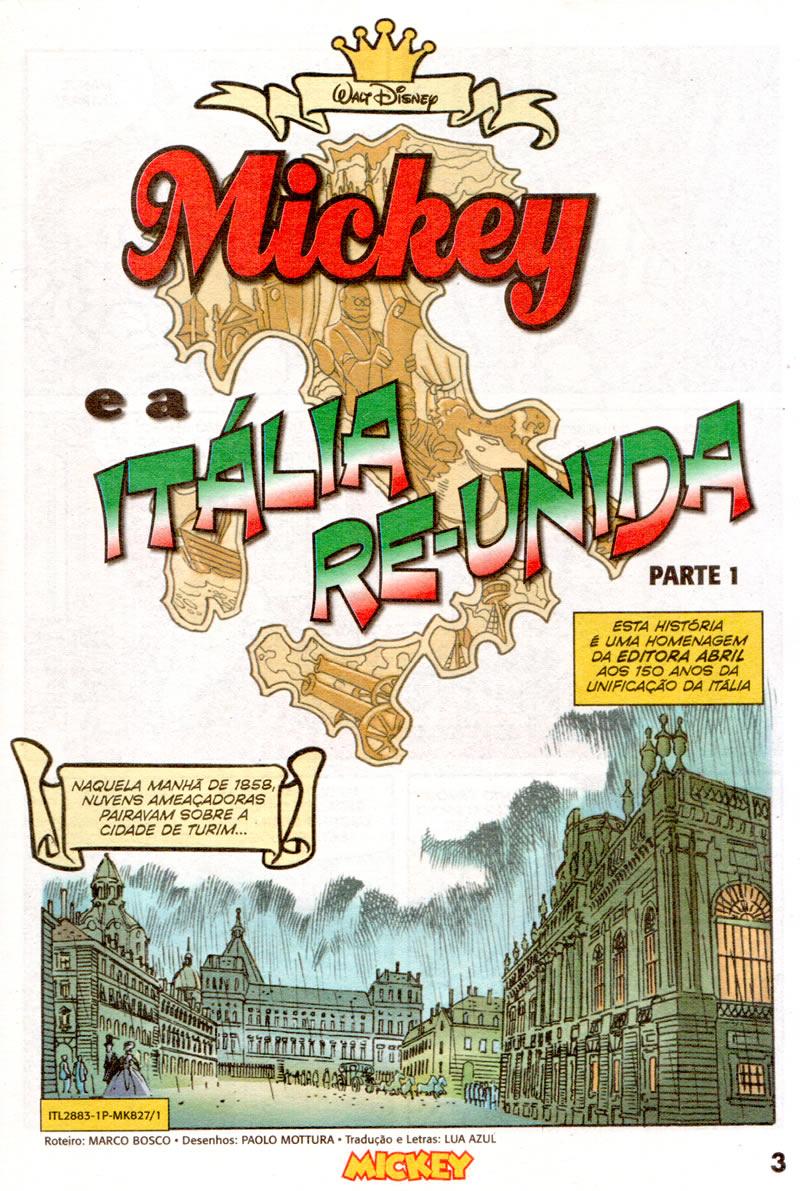 Mickey n°827 [Agosto/2011]  - Prévia em Scans na pág 01! Mk82701