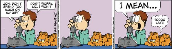 0812 Tirinhas: Garfield em clima de natal