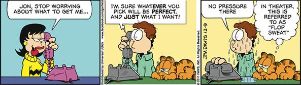 0912 Tirinhas: Garfield em clima de natal