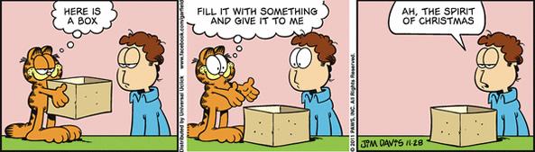 2811 Tirinhas: Garfield em clima de natal
