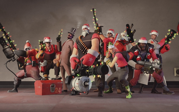 Photo of Wallpaper do dia: Team Fortress 2! (Natal)