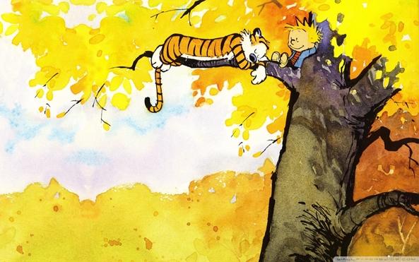 Photo of Wallpaper de ontem: Calvin and Hobbes!