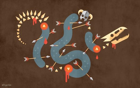 Photo of Wallpaper do dia: Skyrim!