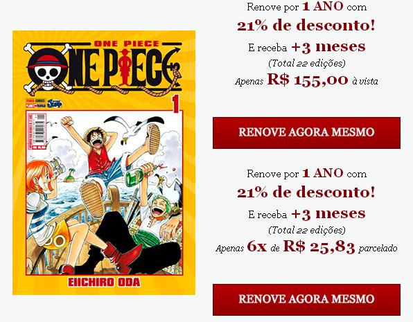 Photo of Renovação da Assinatura de One Piece!