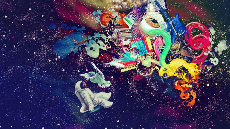 Galaxia Surreal Wallpaper