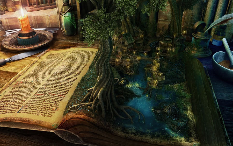 Fantasy Book Wallpaper