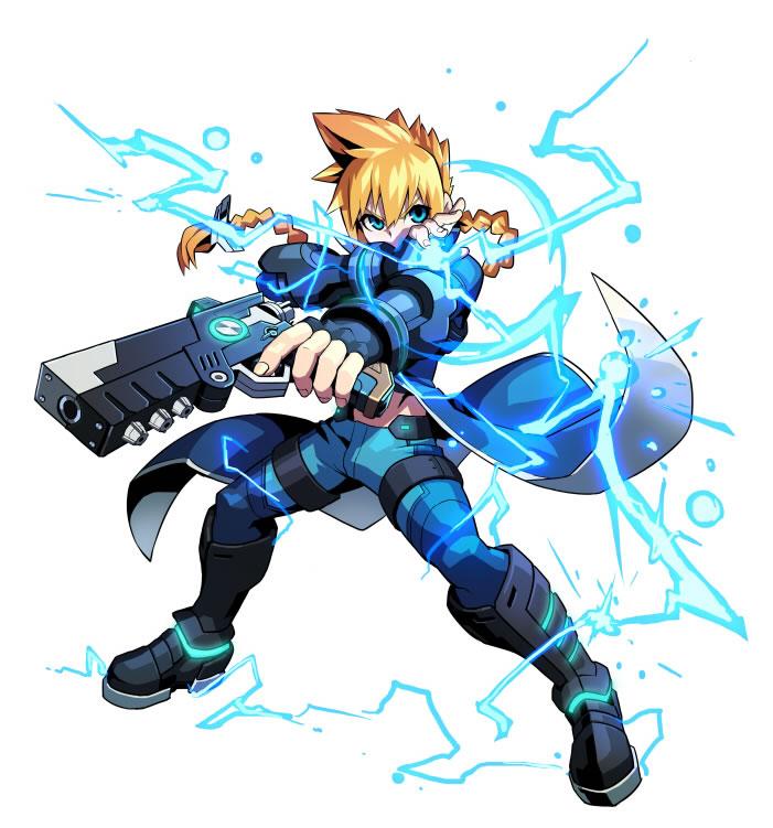azure striker gunvolt- artwork