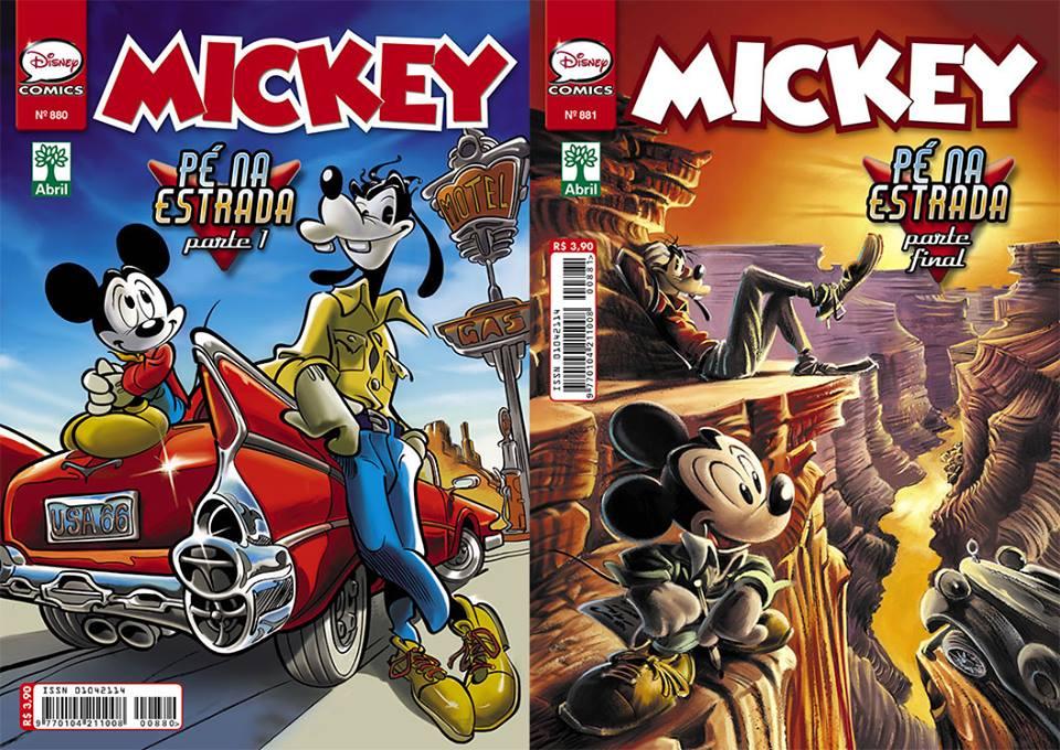 Mickey Pe na Estrada