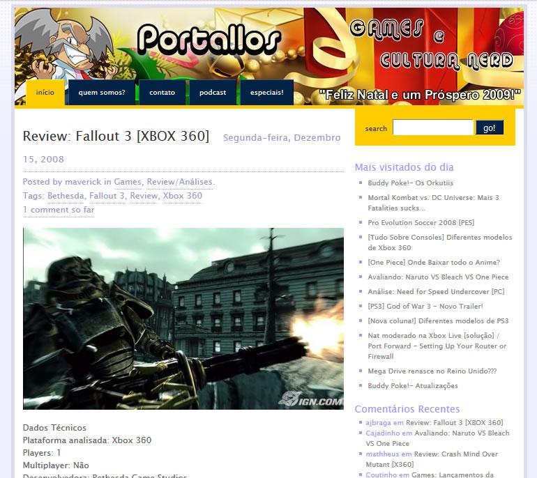 Layout de 2008, no wordpress.com